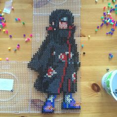 Itachi Uchiha - Naruto perler beads by anime_freak_anim