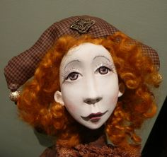 Alba Art doll OOAK  Paper clay doll Handmade art doll by JuraD, $180.00