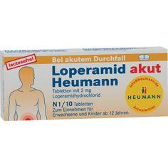 LOPERAMID akut Heumann Tabletten gegen Durchfall:   Packungsinhalt: 10 St Tabletten PZN: 04633535 Hersteller: HEUMANN PHARMA GmbH & Co.…