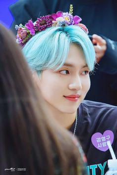 Blue Hair Aesthetic, Pentagon Kino, E Dawn, Good Smile, Cube Entertainment, Aesthetic Pictures, Kpop, Archive, Prince