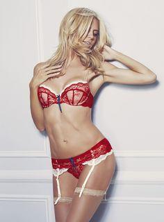 a1be199e8c226 Supermodel Heidi Klum strips down her skivvies for the spring-summer 2016  campaign for her namesake lingerie brand called, Heidi Klum Intimates.