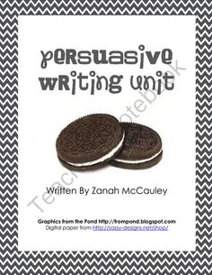 Persuasive Writing Unit from ZanahMcCauley on TeachersNotebook.com -  (17 pages)  - Persuasive Writing Unit (opinion writing with letter writing, nonfiction writing, and a book talk)
