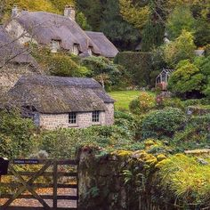"Fondly known as one of Devon's ""dream villages"", Buckland in the Moor is dotted with quintessentially English cottages. These thatched gems overlook the woodland of Holne Chase, and are a perfect base for long walks! Thanks to for this lovely shot. Devon Uk, Devon England, Oxford England, Cornwall England, Yorkshire England, Yorkshire Dales, London England, The Places Youll Go, Places To Visit"