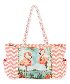 Look what I found on #zulily! Kate McRostie Pink Flamingo Island Shoulder Bag #zulilyfinds