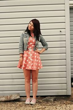 Cutest dress with converse!!