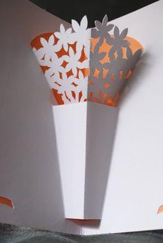 Blumen-Vase-Popup-Karte von PeadenScottDesigns auf Etsy