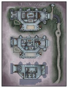 Medieval, Dwarven City, Fantasy City Map, Pathfinder Maps, Building Map, Rpg Map, Map Layout, Map Maker, Dungeon Maps