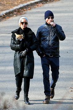 Picture Perfect: Jennifer Lawrence, 26, and Darren Aronosky, 47, looked happy as they were spotted out for a stroll together in Central Park in New York City on New Year's Eve
