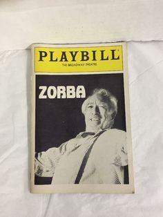 Zorba Playbill Anthony Quinn Vivian Blaine January 1984