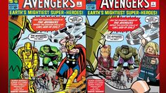 Lego Marvel Comic Covers - Side by Side (Avengers, Xmen, Fantastic Four ...