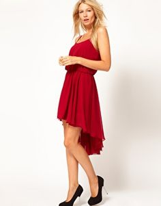 Love Chiffon Hi Lo Dress With Cami Straps- $25!! (they have it in teal!)