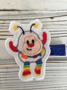 A personal favorite from my Etsy shop https://www.etsy.com/listing/517656249/rainbow-brite-rainbow-brite-hair-clips
