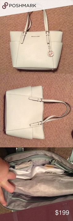 Michael Kors Light Blue Jet Set Tote Cute tote! In perfect condition. Dust bag included! Open to reasonable offers! MICHAEL Michael Kors Bags Totes