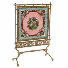 Victorian Fire Screens | 21: American 19th century Victorian Fire Screen