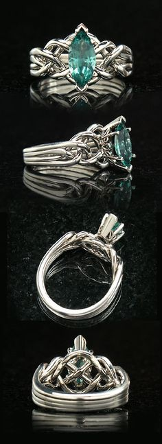 Emerald Marquise Puzzle Ring--I love the look, but it may not be the best idea given my clumsiness