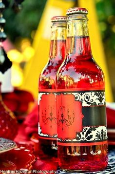 """Photo 10 of 19: RED AND BLACK DAMASK / Bridal/Wedding Shower """"SHOWERS OF BLESSINGS"""" 