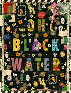 Struggling to Stay Above Water by Tony Fitzpatrick. From his portfolio of visual work responding to Hurricane Katrina