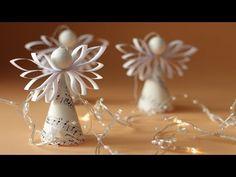 Paper Angels Diy, Diy Angels, Paper Crafts Origami, Diy Paper, Christmas Paper Crafts, Christmas Decorations, Christmas Angels, Christmas Fun, Angel Crafts