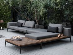 Amazing Of Modern Patio Lounge Chairs 25 Best Ideas About Modern Regarding Outdoor Lounge Furniture Modern Outdoor Seating, Outdoor Spaces, Outdoor Living, Outdoor Decor, Outdoor Sofas, Outdoor Balcony, Outdoor Projects, Diy Garden Furniture, Modern Outdoor Furniture