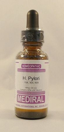 Natural Home Remedy for Gastrointestinal, Peptic Ulcer | H. Pylori Homeopathic (Helicobacter Nosode) (1 fl. oz) by Mediral  www.eVitaminMarket.com