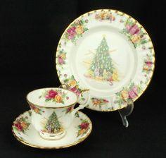 Royal Albert Old Country Roses Christmas Magic Trio VGC