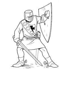 soldiers and knights coloring pages 8