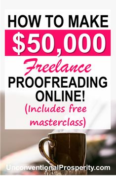 5 ways that you can make a full-time income with freelance proofreading online! 5 ways that you can make a full-time income with freelance proofreading online! Earn More Money, Ways To Earn Money, Make Money Fast, Earn Money Online, Online Jobs, Make Money From Home, Money Tips, Money Hacks, Proofreader