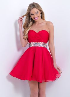 Blush Prom 9861 Strapless Jeweled Party Dress | VIP Girls Dresses | Quince Dresses | Damas Dresses | RissyRoos.com