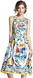 Women's Summer Sleeveless Beach Casual A Line and Flared Floral Tank Dress Pretty Dresses For Women, Summer Dresses For Women, Summer Dress Patterns, Beach Casual, Casual Summer Dresses, Tank Dress, Designer Dresses, Womens Fashion, Central Florida