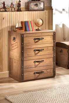 Pirates do not have many assortments in clothing but for the ones they do have, they would need a dresser.