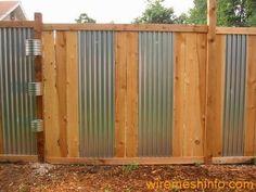Chic Corrugated Iron Fence | 318943 | Home Design Ideas