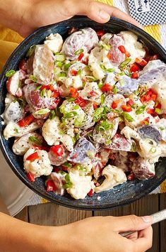 Yep, there's cauliflower in this potato salad. It cuts down on the carbs and calories, and is a perfect match for our tangy horseradish dressing. #comfortfood #healthyrecipes #healthycomfortfood #healthyrecipes Diabetic Living Magazine, Cauliflower Potatoes, Healthy Comfort Food, Comfortfood, What's Cooking, Salad Bowls, What To Cook, Food Cravings