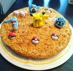 #Homemade #deco #pokemongo #pikachu #birthdaycake