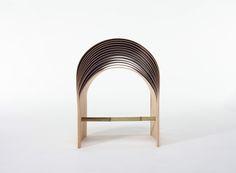 hangzhou bent bamboo stool by min chen