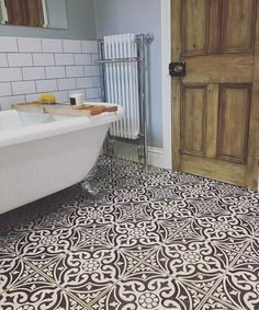 Devon Stone Black Feature Floor Tile Liking this black and white floor Metro Tiles Bathroom, Stone Bathroom, Bathroom Floor Tiles, Bathroom Wall, Small Bathroom, Tile Floor, Bathroom Fixtures, Gold Bathroom, Bathroom Colors
