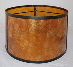 "Mica Drum Or Floor Lamp Shade Amber Or Silver USA Hand Crafted 15""x16""x9""; 17""x18""x9.5""; 17""x19""x11"""