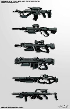 Futuristic Assault Rifles | Speedpaint Future Assault Rifles by *ProlificPen on deviantART
