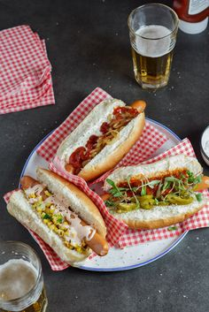 Gourmet Hot dogs for #hotdogday.
