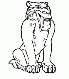 ice age coloring pages for kids ice age coloring pages for kids free online - Ice Age Characters Coloring Pages