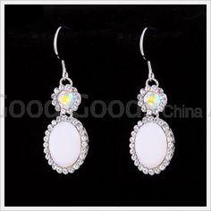 Czech Rhinestone Fashion Style Crystal Earrings