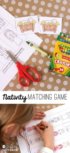 Printable Nativity Matching Game