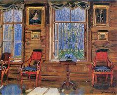 Stanislav Yulianovich Zhukovsky (Станислав Юлианович Жуковский) (Polish Russian artist, 1875–1944) Joyful May 1912