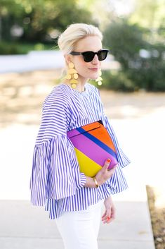 bradley agather means in mds stripes bell sleeve