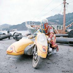 Hero Machine, Japanese Superheroes, Sidecar, Kamen Rider, Godzilla, Sci Fi, Bike, 1980s, Albums