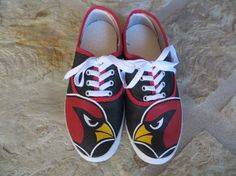 Hand Painted Shoes  AZ Cardinals by cindystyle on Etsy, $70.00