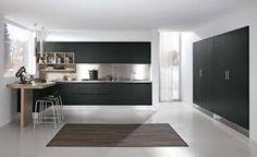 Risultati immagini per cucina nera legno