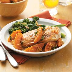 Curried Apricot Pan-Roasted Chicken