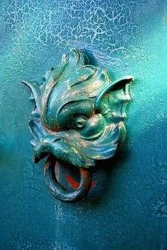 """""""Green door knocker"""" Would work on my door hardware board but the colours won so here it is. S"""