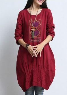 Buy Bohemian Graphic Lantern Dress | mysallyfashion.com Malaysia