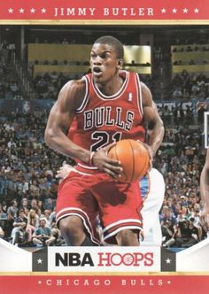 2012-13 Panini NBA Hoops Basketball #249 Jimmy Butler RC Chicago Bulls Rookie Trading Card by Hoops. $2.50. 2012 Panini Group trading card in near mint/mint condition, authenticated by Panini Authentic